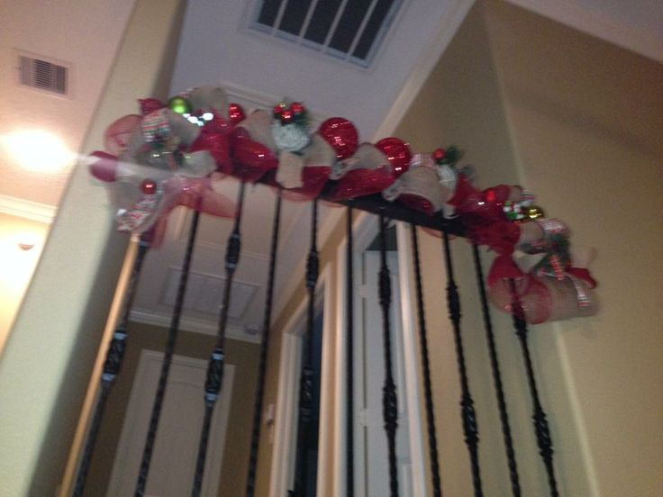 Stairway Garland/Deco Mesh - Made By V Williams 2013 | Our ...