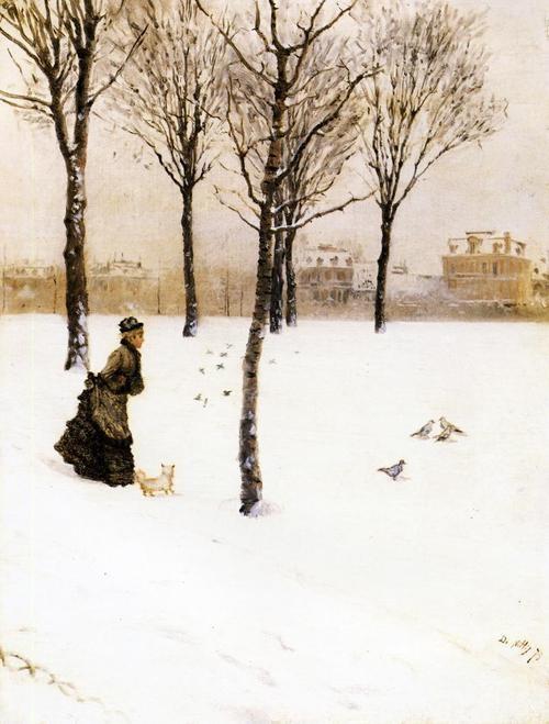 Giuseppe deNittis, A Winter's Landscape, 1875