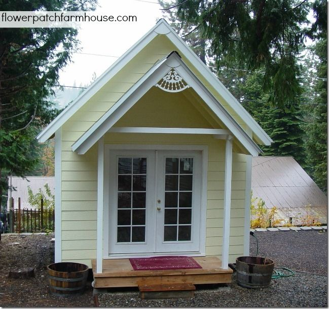 Build your own crafting cottage or garden shed flower patch for Build your own bungalow
