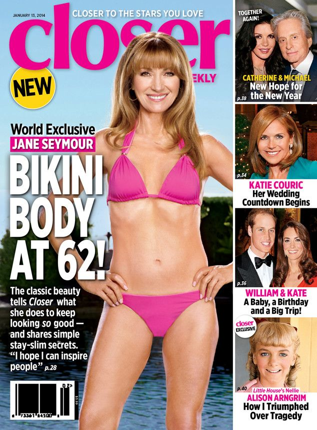 """""""And yet there's also a point at which one has to wonder, when if ever does it become OK to not be sexy anymore? I'm still reeling from our winter of  62-year-old Jane Seymour's bikini Us magazine cover, and  60-year-old Christie Brinkley's swimsuit People cover."""""""
