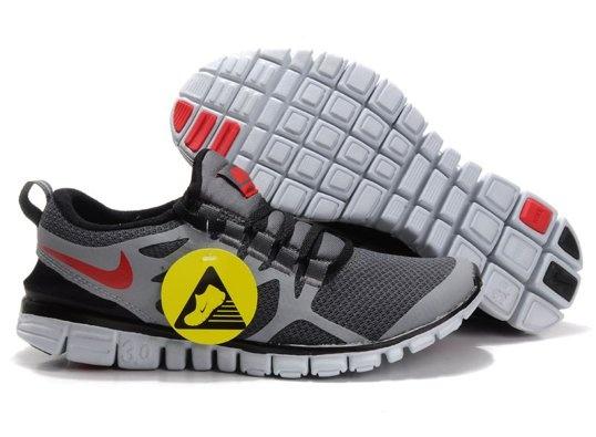 newest dfaa5 63b9b ... femme 2012 Nike Free Run 3.0 V3 Chaussures Hommes Gris Noir Rouge.