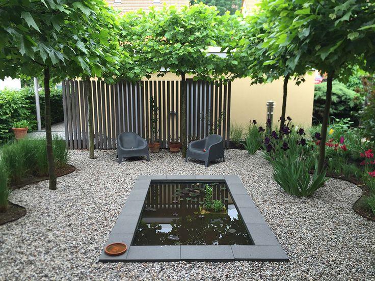 Eine Schöne Idee Für Eine Moderne Gartengestaltung Mit Rechteckigem GFK  Wasserbecken Von Slink. Der