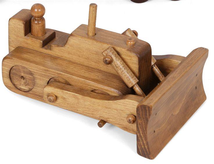 American Made Wooden Toy Bulldozer