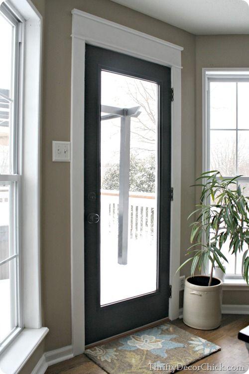 My new black door with white craftsman trim