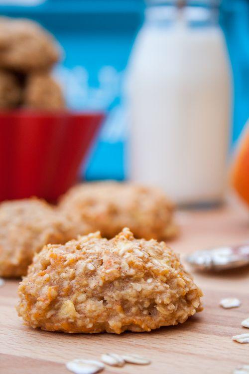 Rezept: Gesunde Haferflocken-Cookies mit Äpfeln und Karotten
