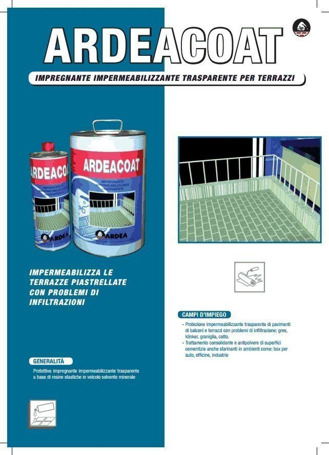 Impermeabilizzante trasparente per pavimenti terrazze balcone ardeacoat lt 5