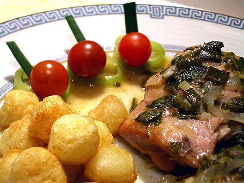 Курица в белом вине с зеленым луком - Дело вкусa