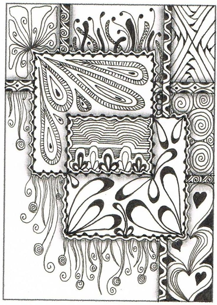Creative Doodling with Judy West: ATC Online Swap 4 - Overlapping Shapes
