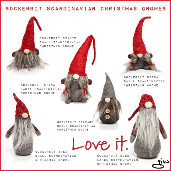 sockerbit scandinavian christmas gnomes by ian giw on polyvore featuring interior