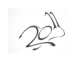 Negative space in lodo design: 2011 Year of Rabbit