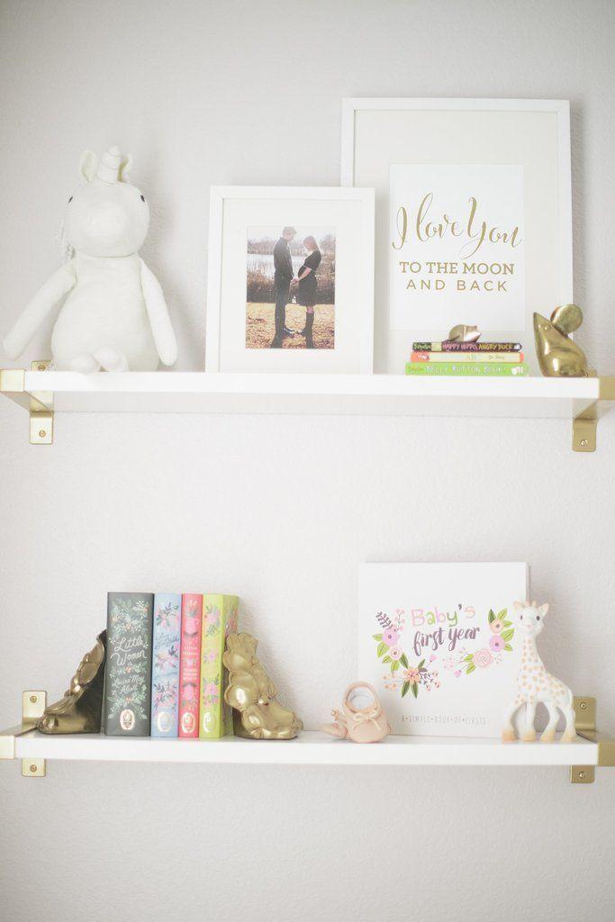 I Love You To The Moon And Back Print Nursery Wall Shelf Nursery Shelves Nursery Shelf Decor