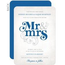 Flourish Title Wedding Invitations