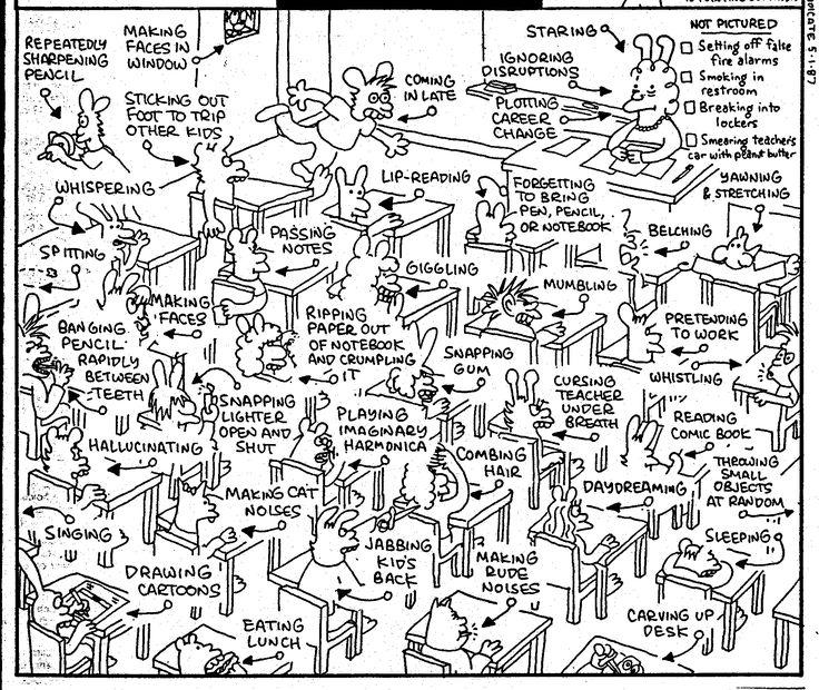 Classroom Management Cartoon