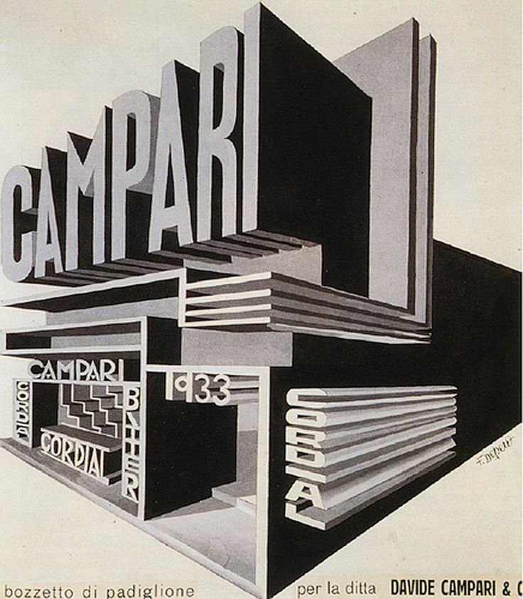 Campari graphic design