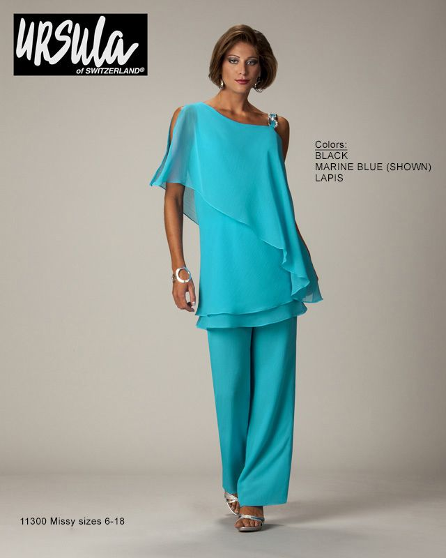 Mob ursula of switzerland special occasion fashion mother for Dress pant suits for weddings