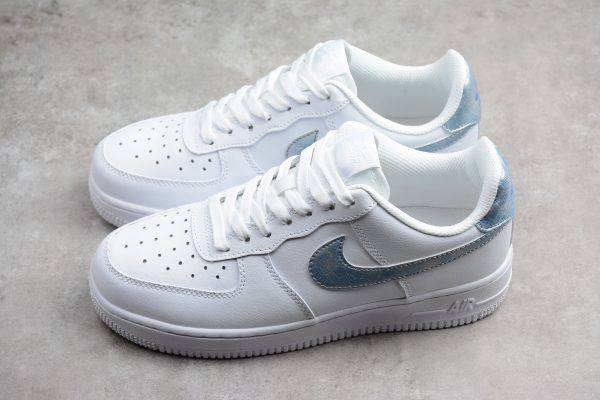 Buy Nike Air Force 1 Low GS White Royal Tint White Trainers Shoes Online-3 cea4d1cce