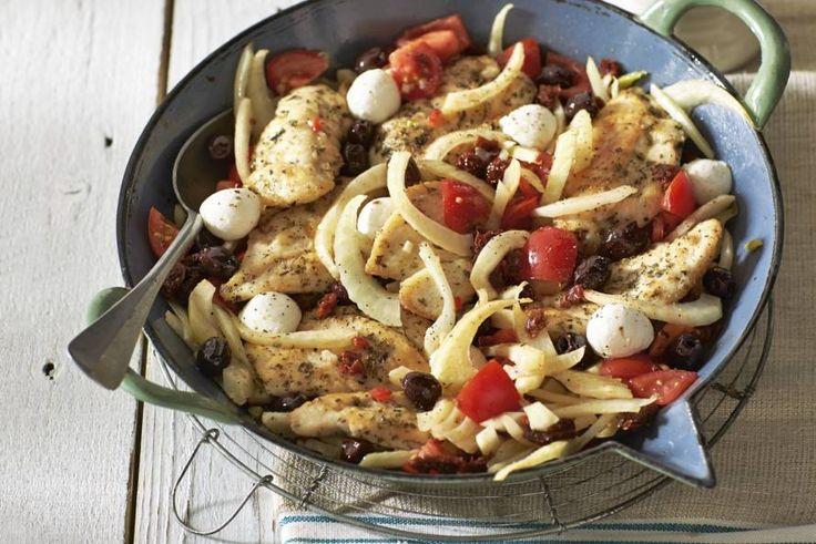 Kijk wat een lekker recept ik heb gevonden op Allerhande! Kip in tomatensaus
