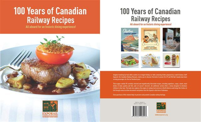 100 Years of Canadian Railway Recipes  All aboard for an historic dining experience!  http://www.exporail.org/en/support-exporail/100-years-of-canadian-railway-recipes/  #recipes #cookbook #trains
