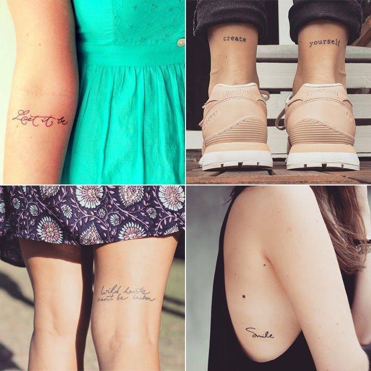 33 Inspirational Quote Tattoos To Consider: 17 Best Ideas About Small Quote Tattoos On Pinterest