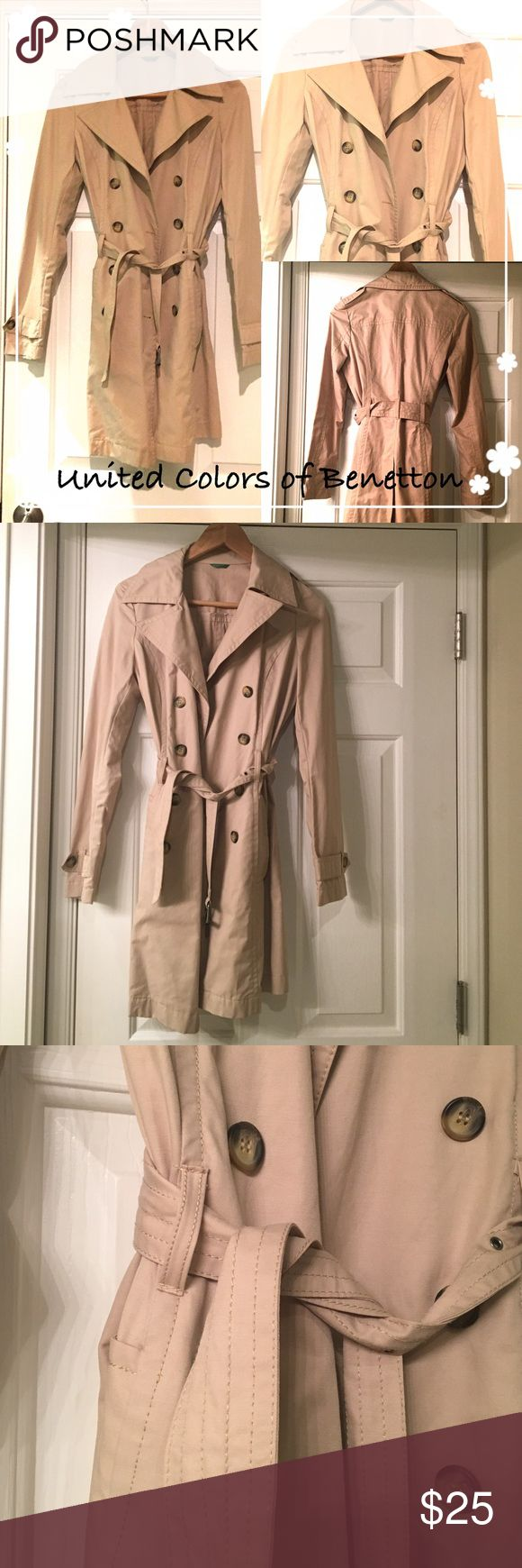 United Colors of Benetton Trench Coat ▫️lightweight trench coat in perfect condition. Comes with belt.  👍🏼condition: excellent  ⬇️offers only thru button below  🔖bundles discount  📦ship within 2 days  ❤️Thank you for visiting🙏🏼 United Colors Of Benetton Jackets & Coats Trench Coats