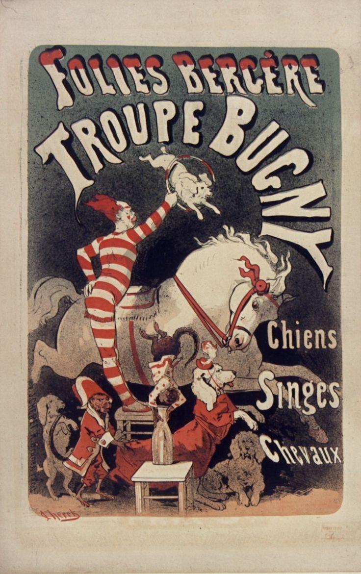 1874, Jules Chéret, Troupe Bugny, Folies-Bergère, Paris (Bibliothèque nationale de France) [Jules Cheret, Folies Bergere, Жюль Шере, Фоли-Бержер]