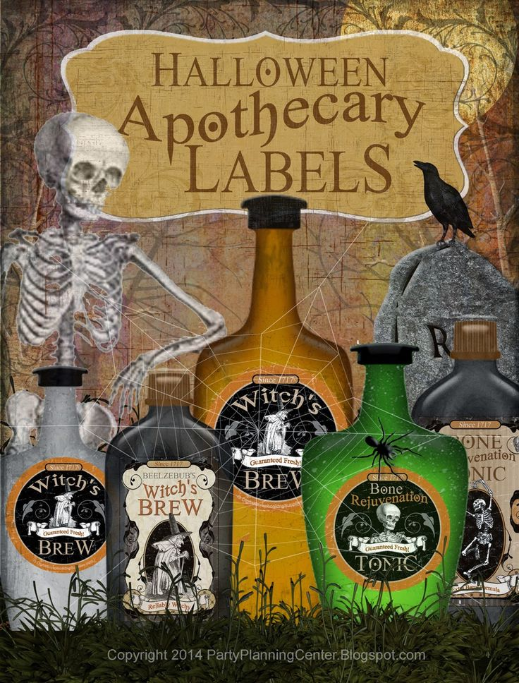 Party Planning Center: Free Printable Halloween Apothecary Labels