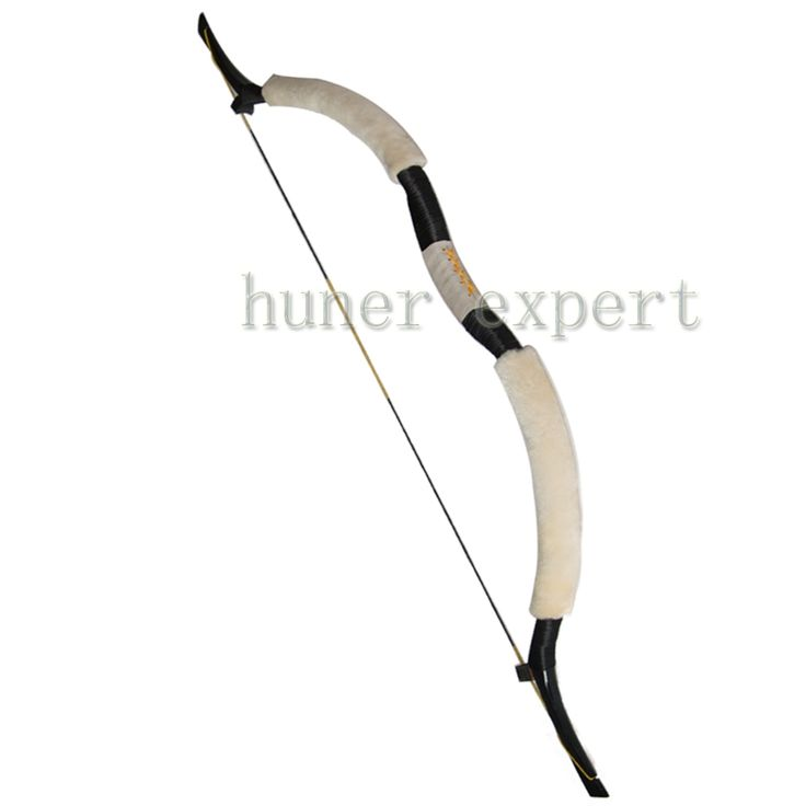 62.99$  Buy now - http://aliucb.worldwells.pw/go.php?t=32525006452 - One 50lbs white recurve archery longbow 58 inch right handed or left handed hunting or shooting wooden bow 62.99$
