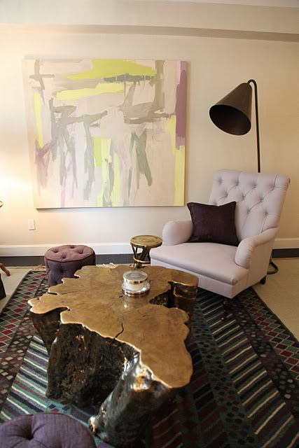 LOVE This Coffee Table! Everything Else, Not So Much. But This Coffee Table.  Tree Stump ...