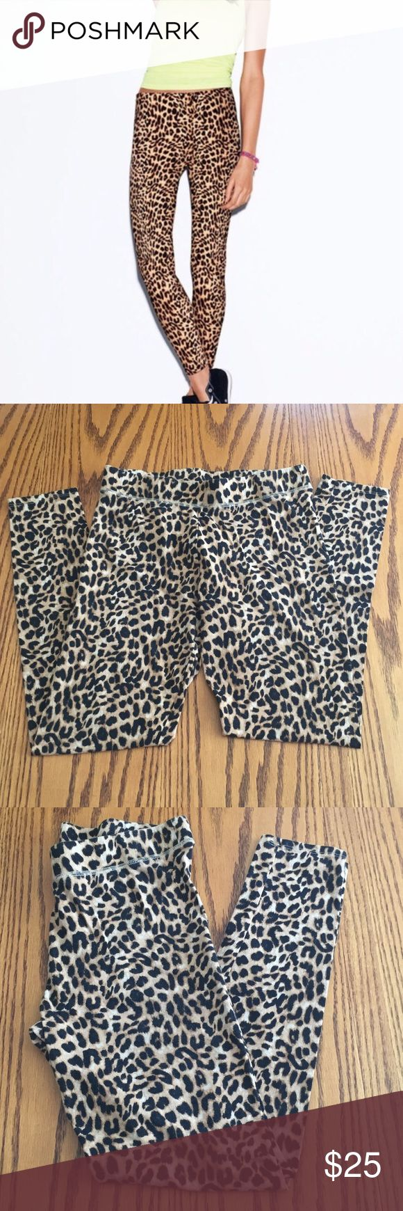 Victoria's Secret Pink leopard leggings. Medium Victoria's Secret Pink leopard leggings. Medium. Cotton with 6% spandex. PINK Pants Leggings