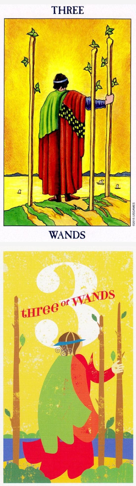 Three of Wands: expansion and delays (reverse). Radiant Tarot deck and Mid Centurian Tarot deck: free daily tarot card reading online, free online tarot yes or no vs free love tarot card reading. Best 2017 playing cards art and tarot reading spreads. #iosapp #fool #magician #highpriestess #skeleton
