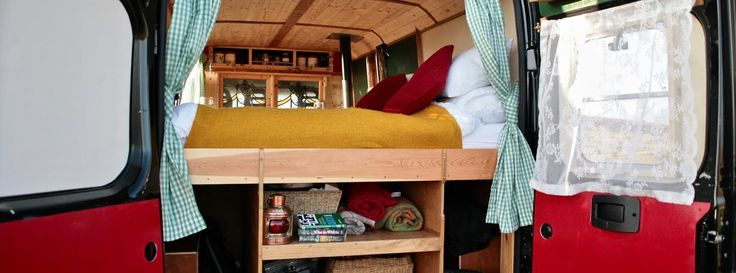 A fixed bed means that cleopatra the campervan has loads of storage space for everything you could need for the ultimate adventure.