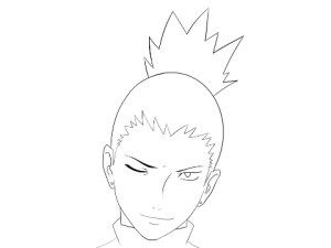 Naruto: How to draw Shikamaru face. Step by Step tutorial. http://howdrawmanga.com/2016/03/15/how-to-draw-shikamaru-face/