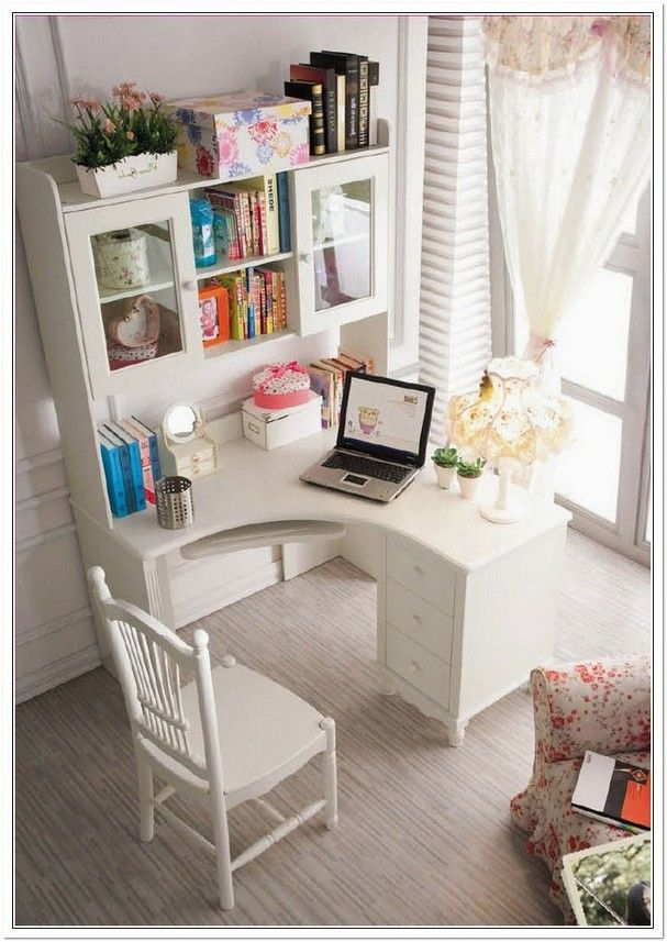 25 best ideas about small corner desk on pinterest desk nook bedroom study area and white - Corner desks with shelves ...