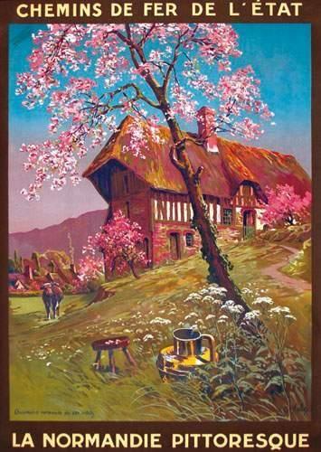 chemins de fer de l'état - la Normandie pittoresque - illustration de Hallo dit…
