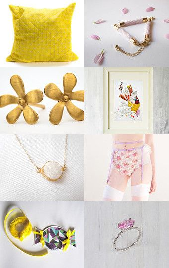 Spring beauties by pooka design shop on Etsy--Pinned with #summer #yellow #etsy TreasuryPin.com