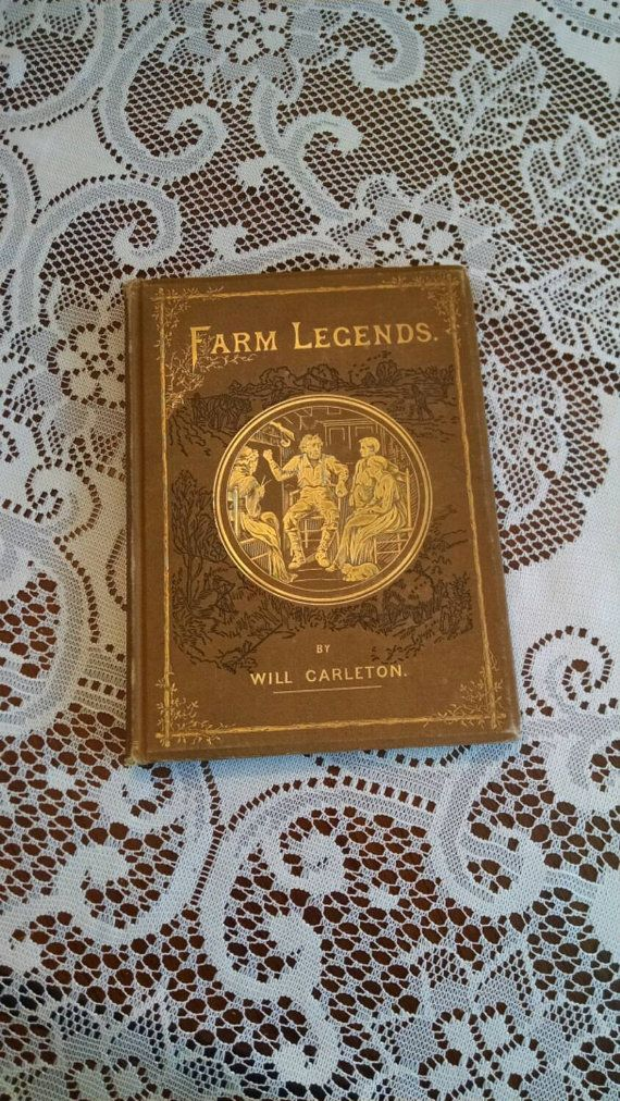Antique poetry book Farm Legends by Will by RusticRambling on Etsy