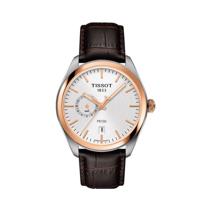 The Tissot PR 100 dual time is a classic watch destined to be worn often and for every occasion.