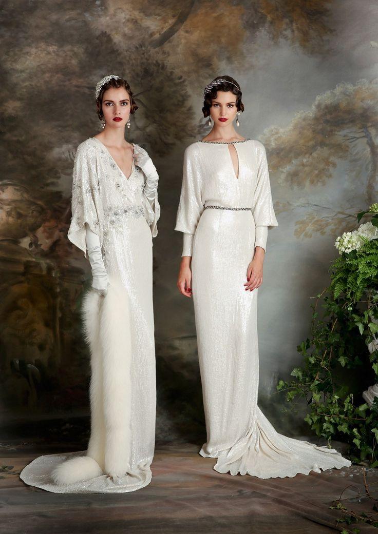 Best 25 1920s style wedding dresses ideas on pinterest roaring eliza jane howell elegant art deco inspired wedding dresses junglespirit Choice Image