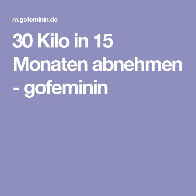 30 Kilo in 15 Monaten abnehmen - gofeminin