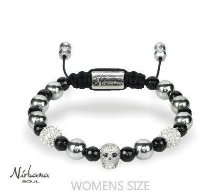 Nirbana Soul - Charno - Onyx - Black & Silver Bracelet