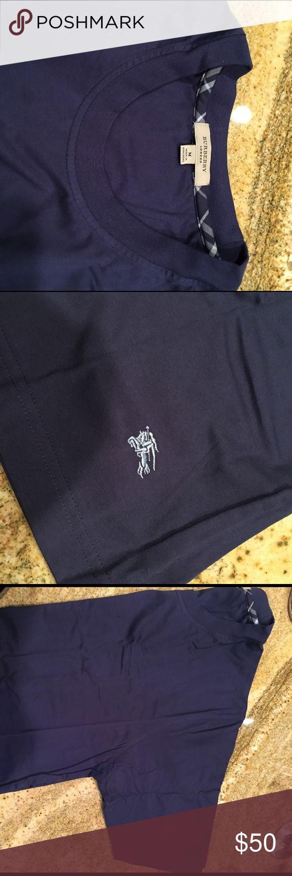 Men's new Burberry t- shirt Men's blue Burberry short sleeve t- shirt... new WOT... never worn Burberry Shirts Tees - Short Sleeve