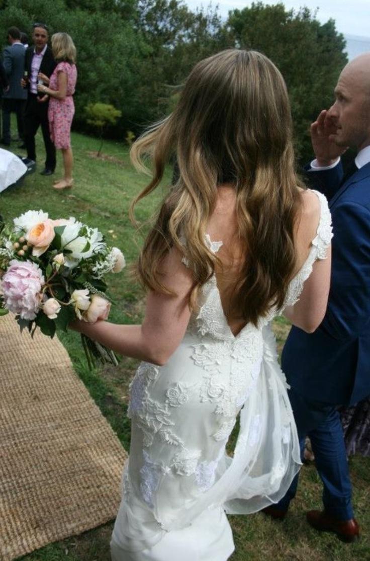 Yvette in her beautiful Jane Hill Wedding Dress