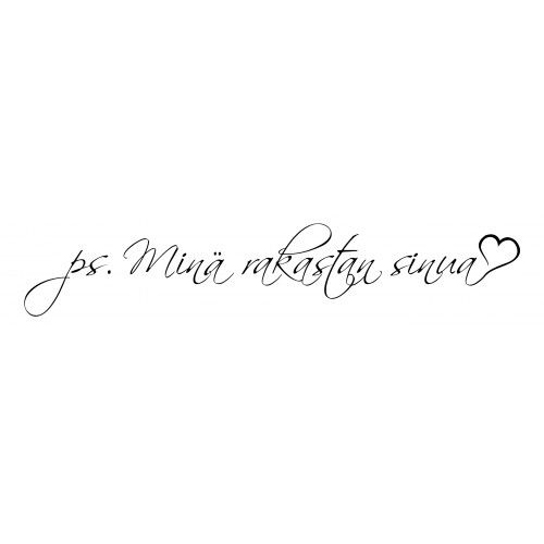 I love you in finnish