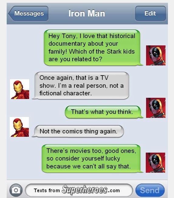 Wade Wilson / Tony Stark / Deadpool / Iron Man / Game of Thrones / House Stark