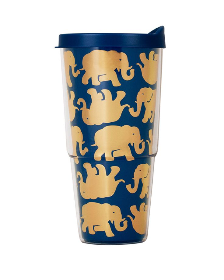 Insulated Tumbler with Lid in Tusk in Sun by Lilly Pulitzer