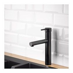 IKEA - MALMSJÖN, Kitchen faucet, , 10-year Limited Warranty. Read about the terms in the Limited Warranty brochure.You save water and energy, because the faucet has a mechanism that reduces water flow while maintaining pressure.The faucet insert has hard, durable ceramic discs that can handle the high friction that occurs when you change the temperature of the water.