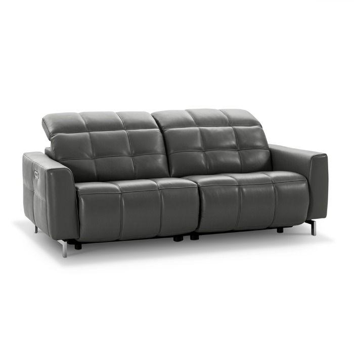 Sofa Melfi 3 Sitzer Granit Leder In 2020 3 Sitzer Sofa Sofa Und Ledersofa