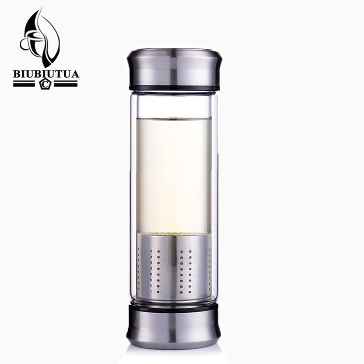 ==> [Free Shipping] Buy Best BIUBIUTUA Double Cover Water Bottle Glass Double Wall Tea Glass Bottles With Stainless Steel Filter Sport Water Tumbler Online with LOWEST Price | 32823737432