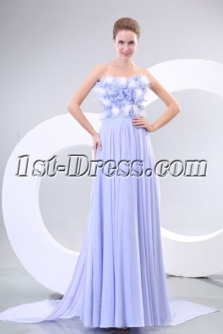 Lavender Strapless Chiffon Evening Dresses Australia Online:1st-dress.com