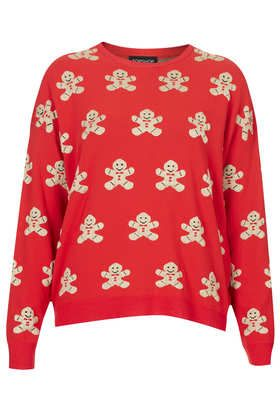 Knitted Gingerbread Man Jumper - Cosy, Practical and cute, ideal for Christmas day :) #DearTopshop